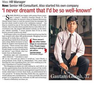 Gautam Ghosh gets featured in national newspaper Hindustan Times